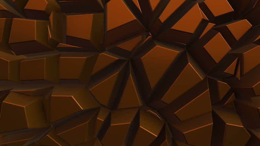 Abstract background with animation moving of dark triangles with glowing light from backdrop. Technologic backdrop with plastic surface. Animation of seamless loop.   Shutterstock HD Video #19444702