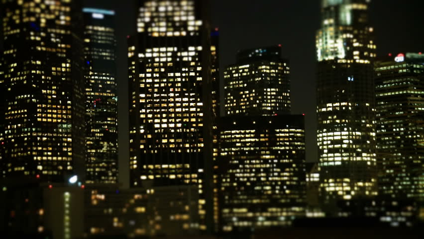 Tilt Shift - Downtown Los Angeles Skyline