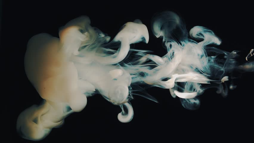 Paint movement dissolved in water on a black background. | Shutterstock HD Video #19455052