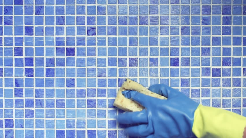 Cleaning Swimming Pool Tile with Stock Footage Video (100% Royalty-free)  19469872 | Shutterstock