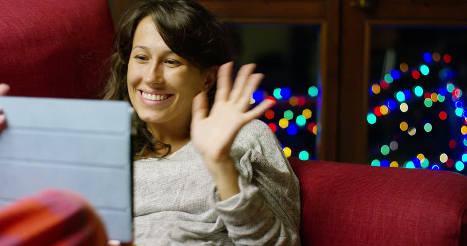 A Girl Greets the Web Stock Footage Video (100% Royalty-free) 19524772 |  Shutterstock
