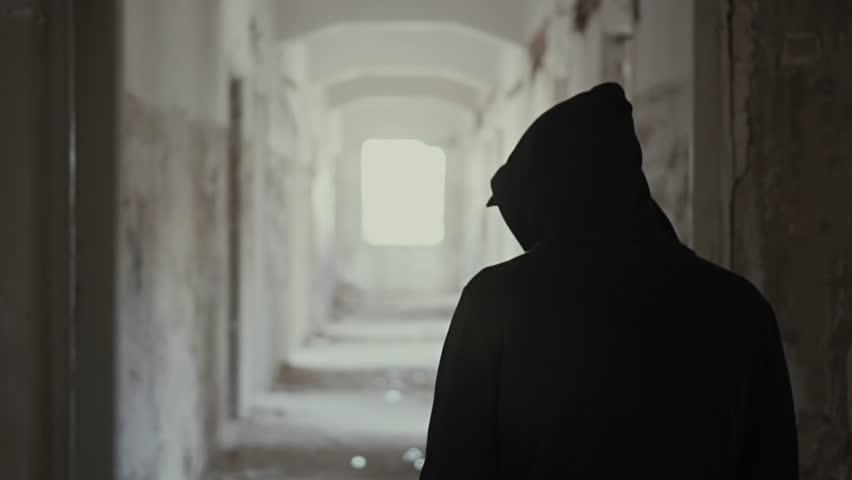 Hooded Man Walking   www.pixshark.com - Images Galleries ...