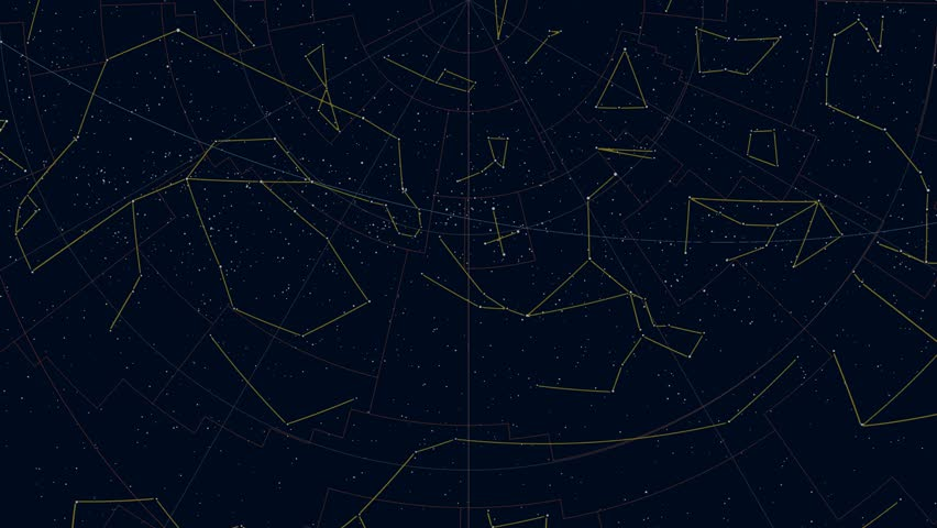 Southern Hemisphere Constellations (aeqd Projection)  Stock Footage Video  (100% Royalty-free) 19564612   Shutterstock