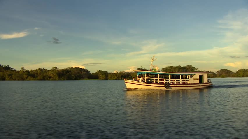 Boat on the amazon river, Manaus, Brazil 2015
