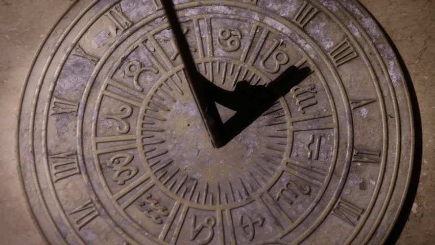 Sundial Time Lapse Full Day Animation Stock Footage