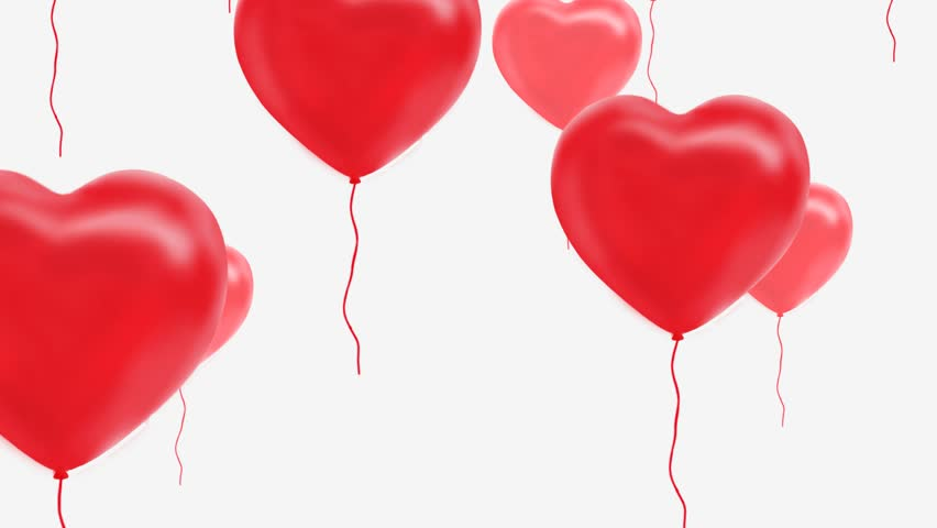 red balloons in the shape of a heart, Luma Matte