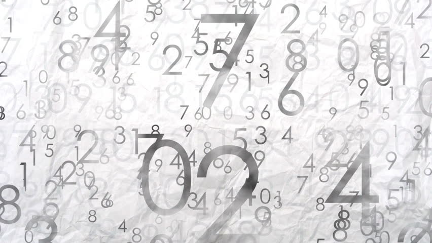 Numbers animated background. Numbers abstract 3D motion at the paper background, flying numbers from 0 to 9, big and small numbers. Abstract gray seamless background, full hd video 1080p. | Shutterstock HD Video #19625323
