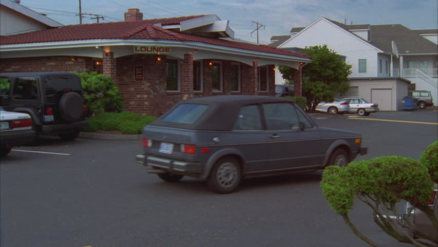 day pan left bar entrance nd brick family style diner restaurant elmers hd stock footage - Beach Style Restaurant 2016