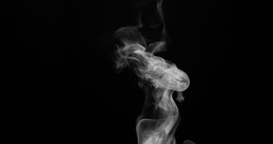 Trickle of Steam Slowly Rising from the Cup. White steam rises light, graceful twists on a black background. Shooting at a rate of 120fps Footage is perfect for the layer with different blending modes | Shutterstock HD Video #19641352