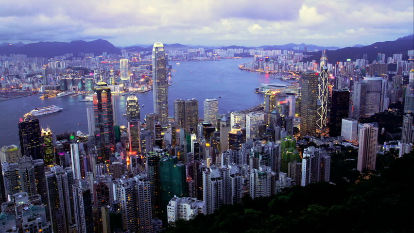 Hong Kong, Business Center. Timelapse from day to night | Shutterstock HD Video #1965802