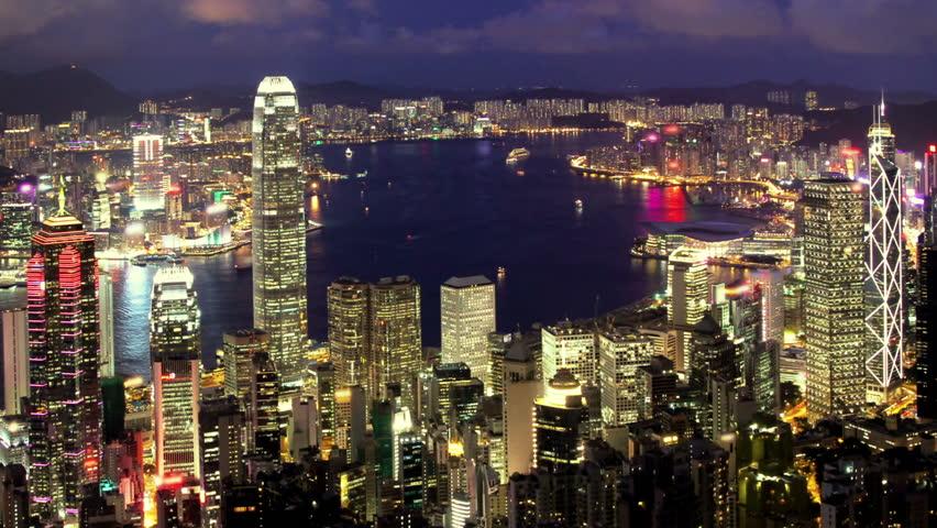 Shanghai Night Stock Footage Video  Shutterstock-9225