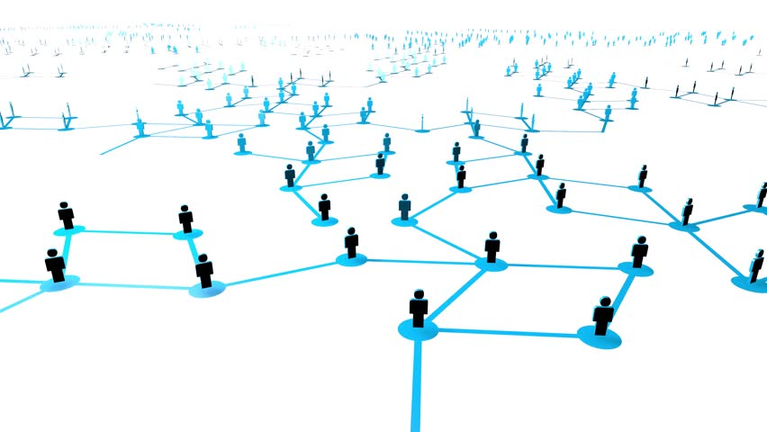 Stock Video Of Social Networking Concept Animated Model Of
