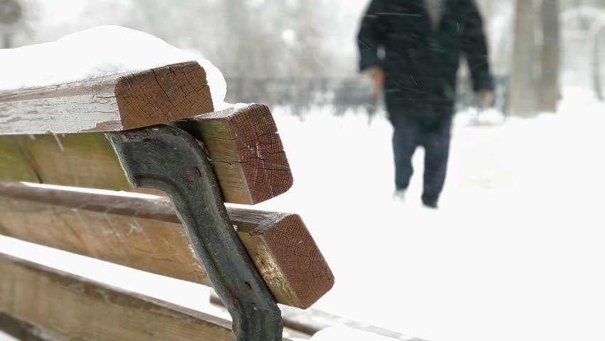 Elderly Woman Walking In Winter | Shutterstock HD Video #1975012