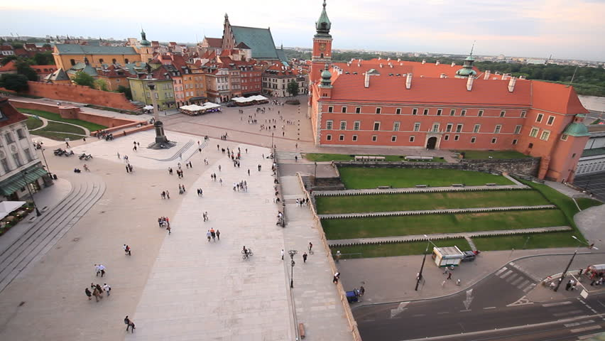 Royal Castle and square in Warsaw
