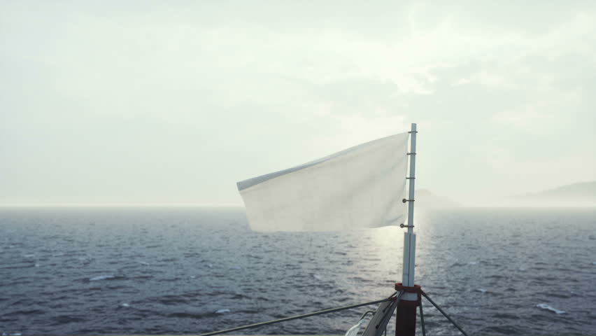 Ship sailing in rough seas  close up for mapping channel for flag logo   Shutterstock HD Video #19786942