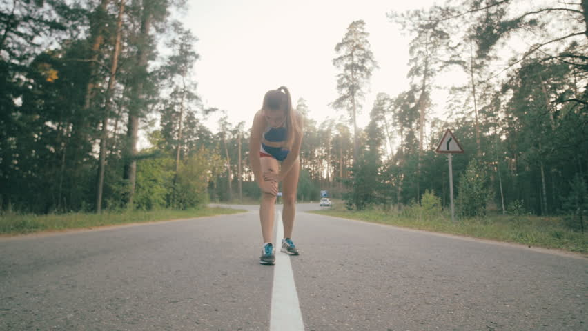 Woman running in park exercising outdoors. Healthy lifestyle. #19814752