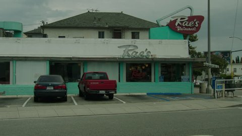 day Pan right slight up corner classic 50s style Rae's Diner's Diner