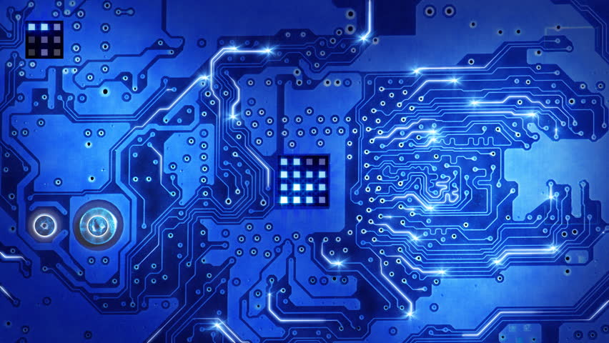computer circuit board blue loopable background #1985305