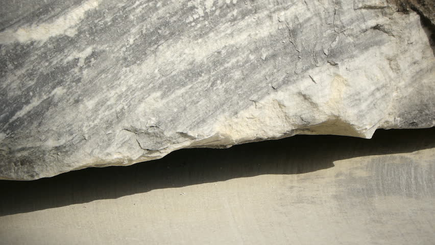 Marble blocks close up in stone quarry