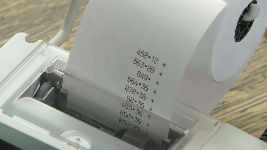 Adding Machine paper tape