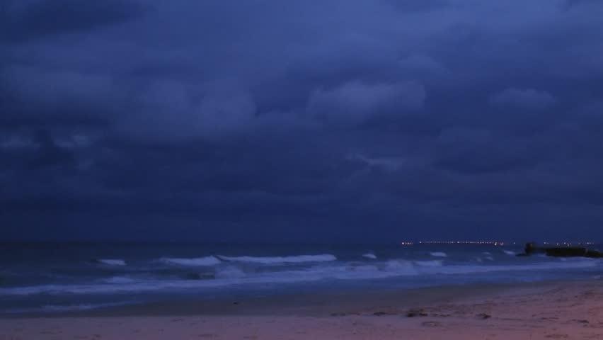 Sousse beach (Tunisia), by night