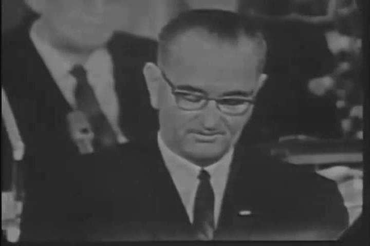 In his 1964 State of the Union address, President Johnson describes the hopes and dreams
