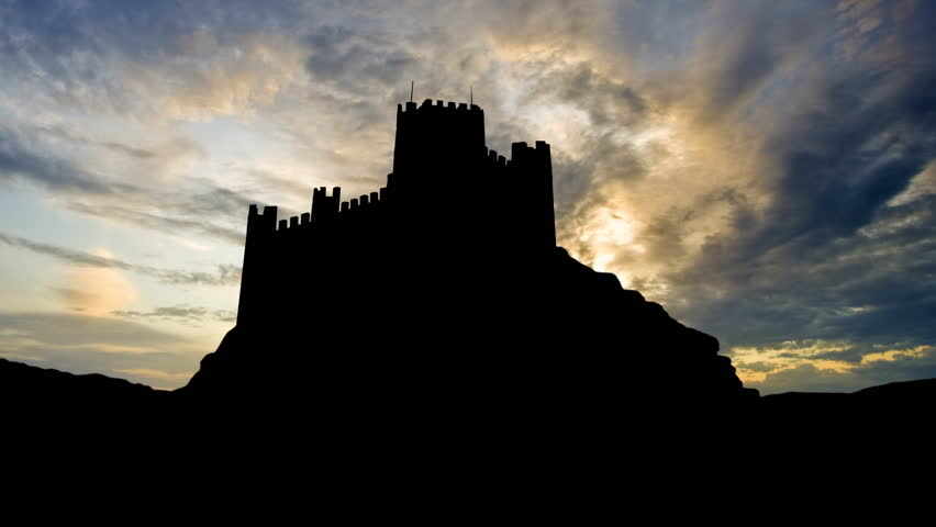 The Castle of Almourol is a medieval castle on a small islet in Tagus River, close to Vila Nova da Barquinha, in Portugal. The castle was used by the Knights Templar.