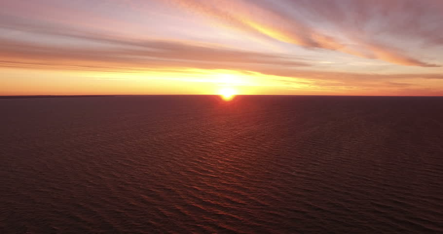 Landscape.Sunset over the sea. The video was filmed in 4K with drone.   Shutterstock HD Video #20014672
