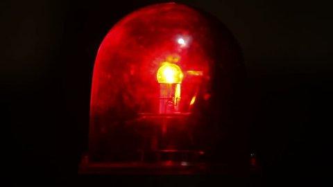 Red emergency light flashing