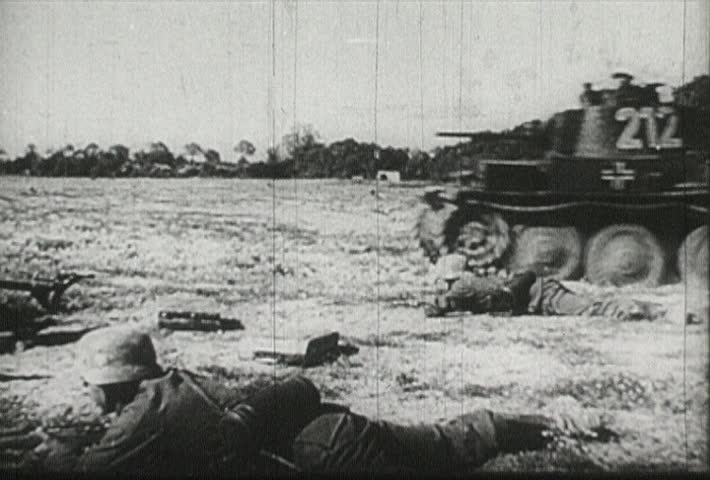 EUROPE - CIRCA 1942-1944: World War II, Nazi Tanks Cause Destruction