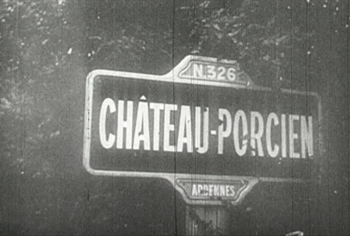 FRANCE - CIRCA 1942-1944: World War II, Tanks Destroy Chateau-Porcien