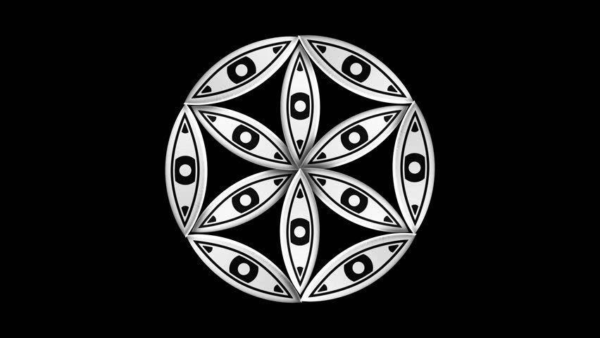 Sacred Geometry 3d Animation  Alpha Stock Footage Video (100% Royalty-free)  20220232 | Shutterstock