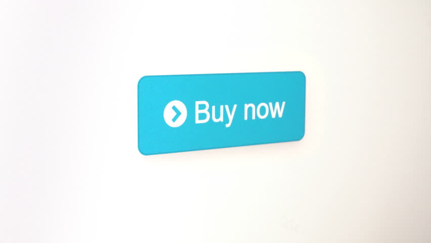 Buy Now button mouse click for online store and internet shopping concepts, screen pixels visible in some parts of the focused area