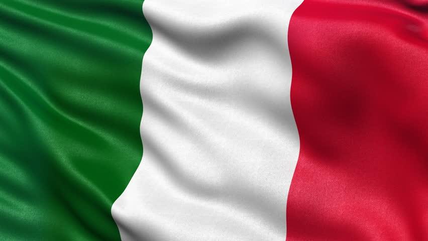 Italian Flag. The Flag Of Italy Waving. 1080p Stock ...