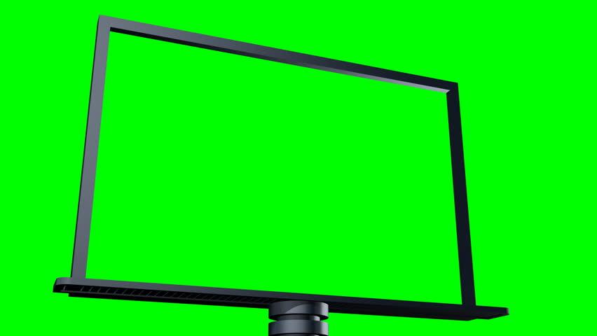 3d Render of Video Billboard - Green Screen | Shutterstock HD Video #2034982