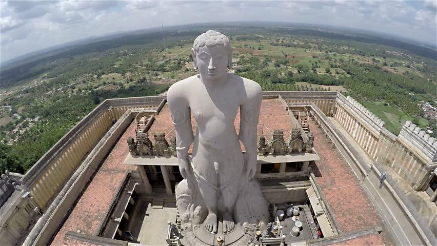 Indian Jain Temple Aerial View