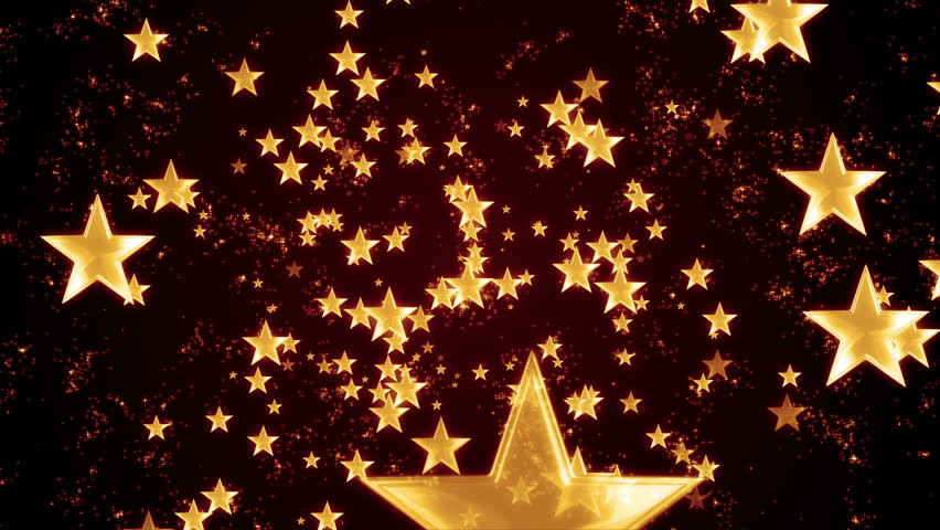 4k Christmas Stars Festive Cute Motion Background Orange Stock ...