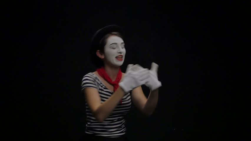 Mime girl going on a date. 4k | Shutterstock HD Video #20432602