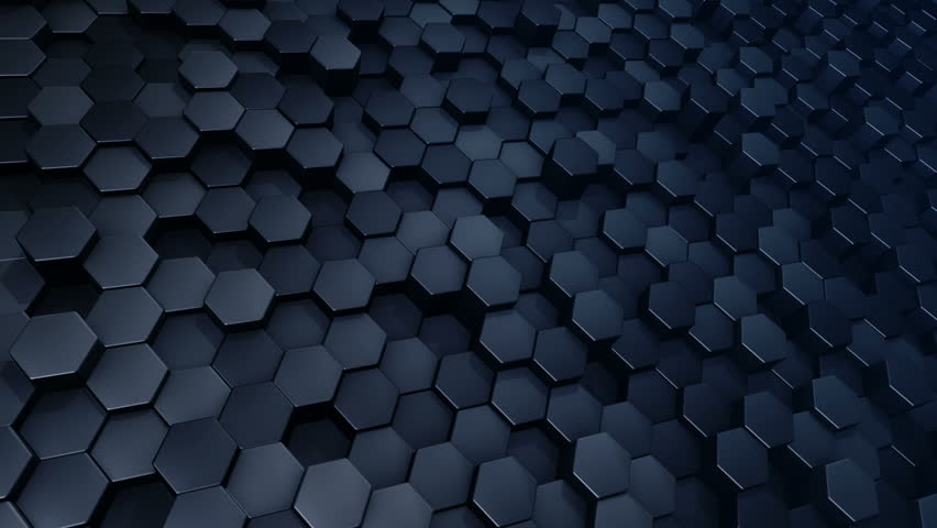 seamless looping hexagon background animation moving