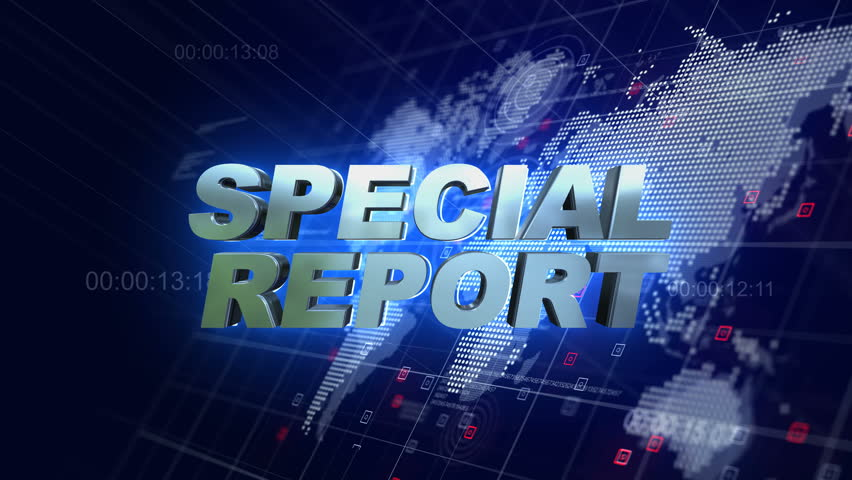 special report 3d broadcast animation stock footage video