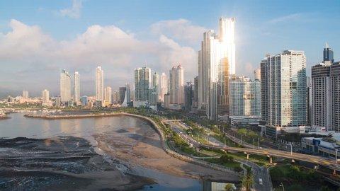 City skyline at sunrise, Panama City, Panama, Central America (May 2016, Panama City, Panama)