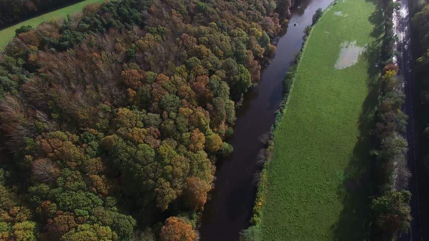 River Bandon, Inishannon, co Cork, Ireland. Beautiful early autumn day on the way to west cork. | Shutterstock HD Video #20514952