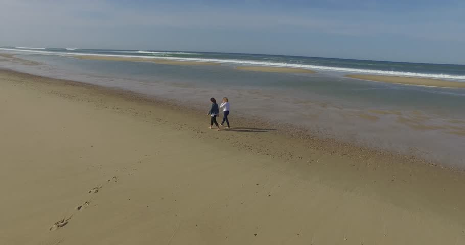 Women walking on the beach | Shutterstock HD Video #20540872
