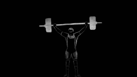 Weight-lifting and javelin throwing - rotoscoping technique