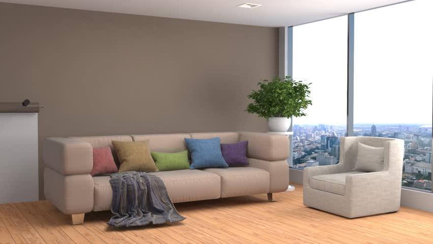 interior with sofa. 3d illustration #20605225