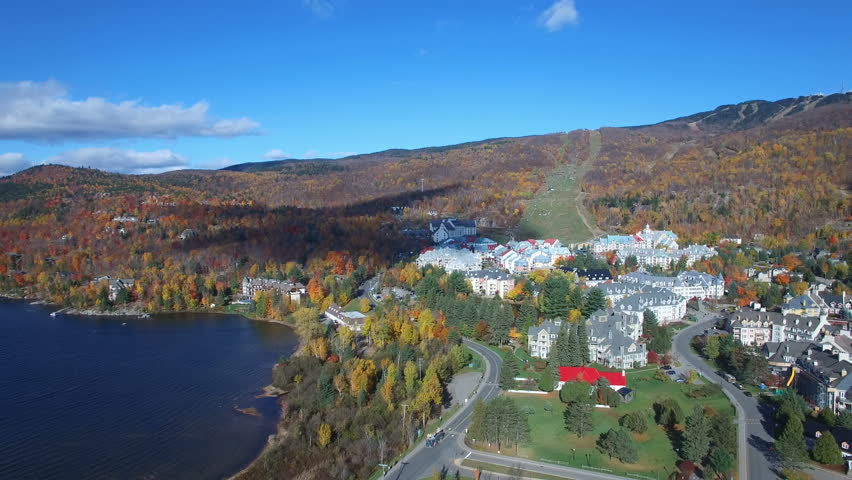 Beautiful Aerial Footage of Mont-Tremblant Village | Shutterstock HD Video #20614012
