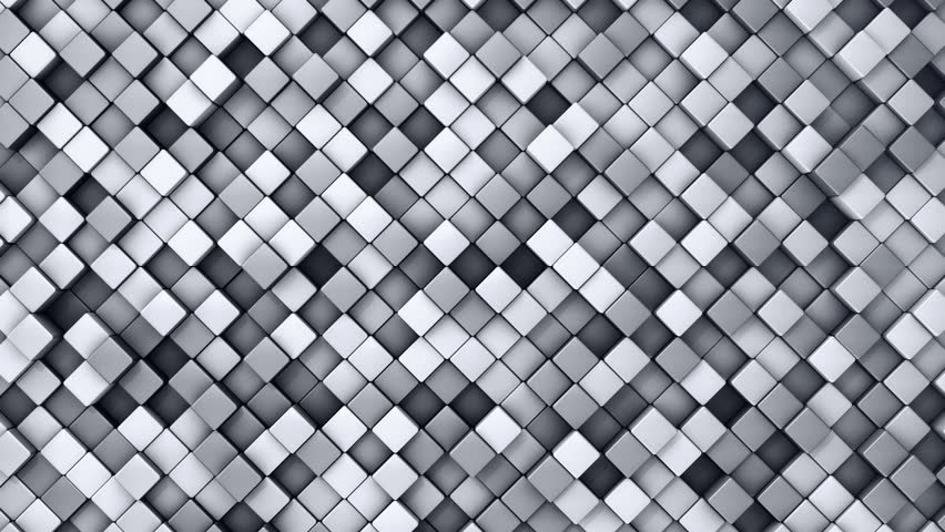 Gray Silver Square Blocks Background Animation Throwing
