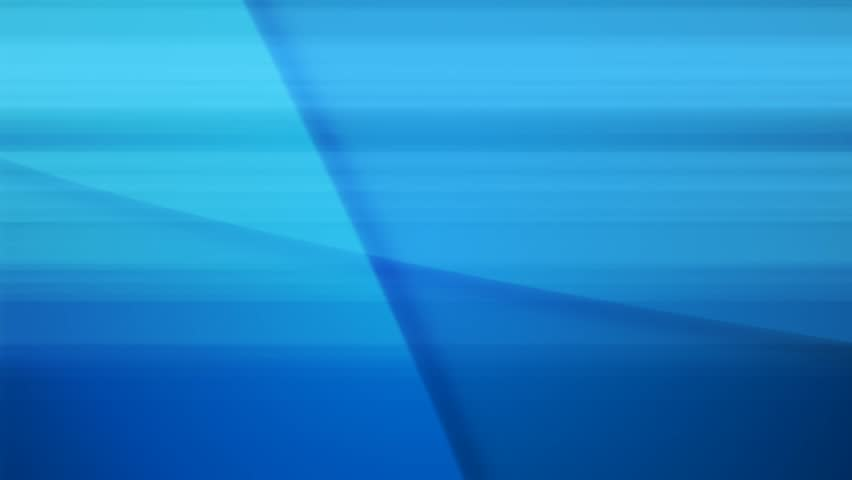 Abstract shapes and faint lines slowly spin and move on a blue background.
