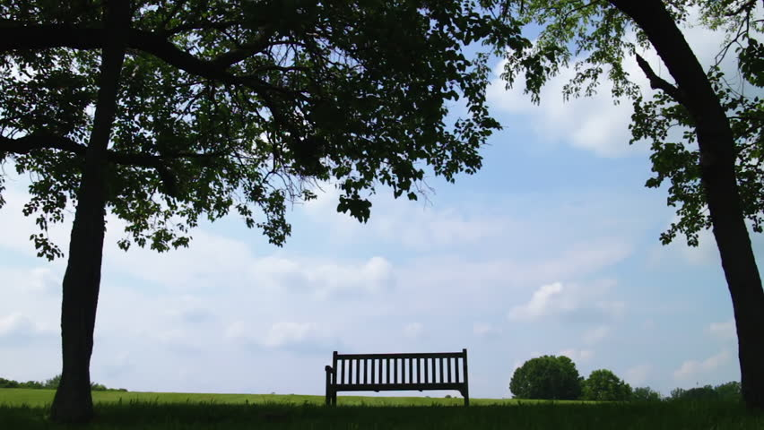 Empty Silhouetted Bench In A Stock Footage Video 100 Royalty Free