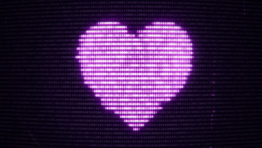 Stock Video Of Geometric Purple Heart Symbol Animated Background